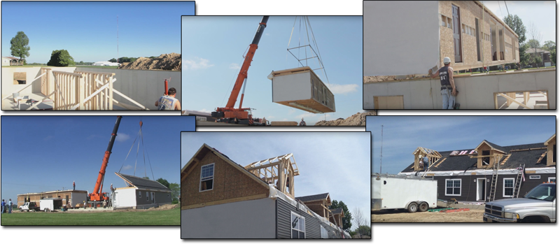 time lapse image of home construction